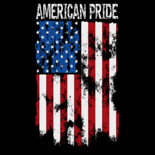 AMERICAN PRIDE - PREMIUM S/S TEE MADE IN USA - BLACK Design