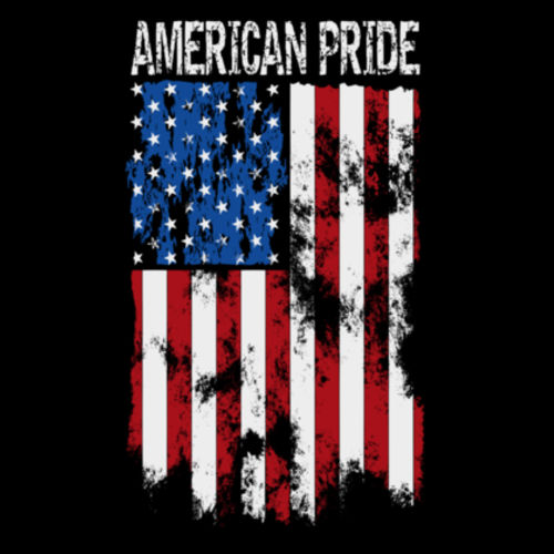 AMERICAN PRIDE - WOMEN'S PREMIUM S/S TEE MADE IN USA - BLACK Design