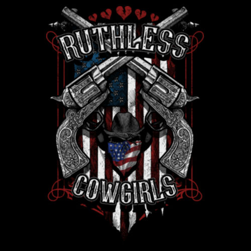 RENEGADE COWGIRLS - PREMIUM PULLOVER HOODIE MADE IN USA - BLACK Design