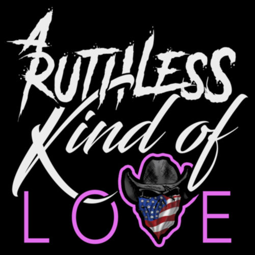 RUTHLESS LOVE - PREMIUM YOUTH S/S TEE MADE IN USA - BLACK Design