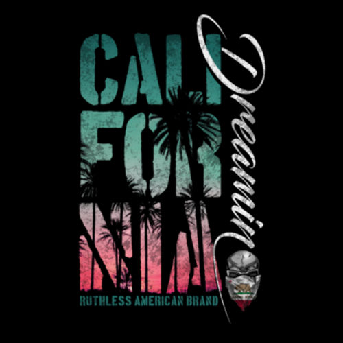 CALIFORNIA DREAMIN - WOMEN'S PREMIUM SHORT SLEEVE T-SHIRT MADE IN THE USA - BLACK Design