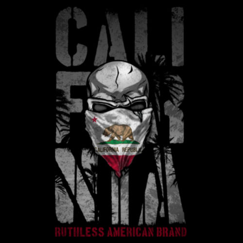 RUTHLESS CALI - PREMIUM UNISEX PULLOVER HOODIE MADE IN THE USA - BLACK 2 Design