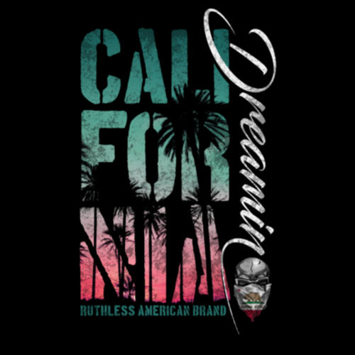 CALIFORNIA DREAMIN - PREMIUM UNISEX PULLOVER HOODIE MADE IN THE USA - BLACK 2 Design
