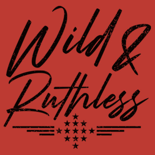 WILD & RUTHLESS - WOMEN'S PREMIUM RACERBACK TANK TOP MADE IN USA - RED HEATHER Design