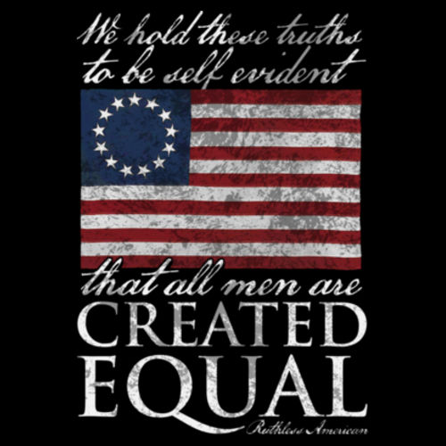 CREATED EQUAL - PREMIUM WOMEN'S S/S T-SHIRT MADE IN THE USA - BLACK Design