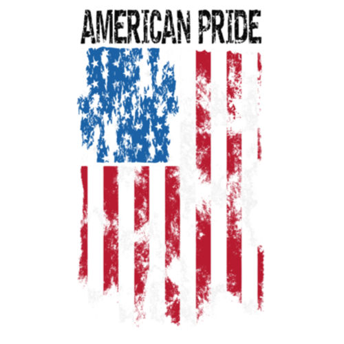 AMERICAN PRIDE - WOMEN'S PREMIUM S/S TEE MADE IN USA - WHITE Design