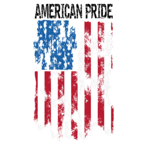 AMERICAN PRIDE - MEN'S PREMIUM S/S TEE MADE IN USA - WHITE Design