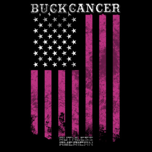 BUCK CANCER FLAG - WOMEN'S PREMIUM SHORT SLEEVE TEE MADE IN THE USA - BLACK Design