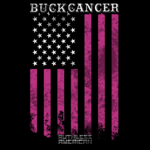 BUCK CANCER FLAG - MEN'S PREMIUM SHORT SLEEVE TEE MADE IN THE USA - BLACK Design