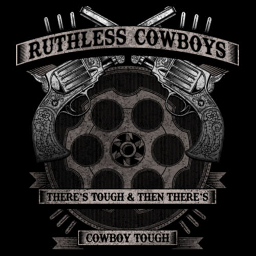COWBOY TOUGH - PREMIUM MEN'S S/S TEE MADE IN USA - BLACK Design