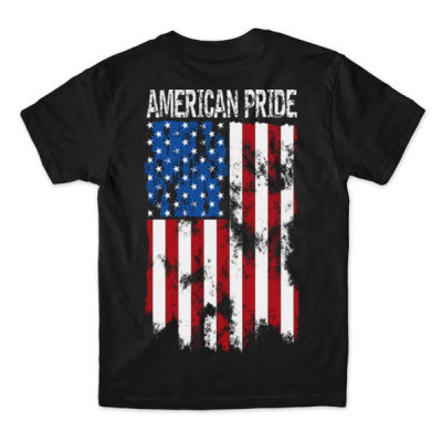 AMERICAN PRIDE - PREMIUM S/S TEE MADE IN USA - BLACK Thumbnail