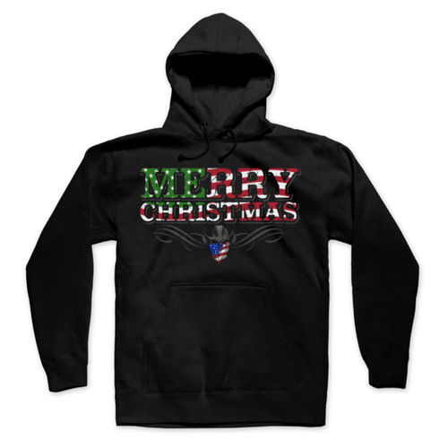 ***LIMITED EDITION*** MERRY CHRISTMAS - PREMIUM PULLOVER HOODIE MADE IN USA - BLACK Thumbnail