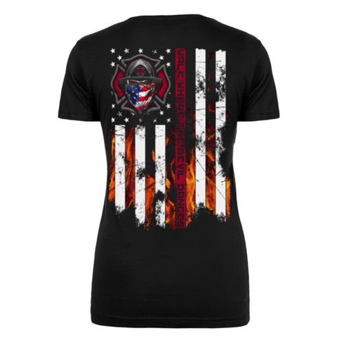 FIRE IN YOUR EYES - WOMEN'S PREMIUM S/S TEE MADE IN USA - BLACK Thumbnail