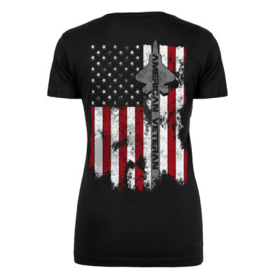 VETERAN AIM HIGH - WOMEN'S PREMIUM S/S TEE MADE IN USA - BLACK Thumbnail