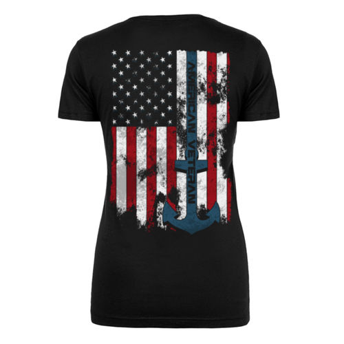 VETERAN SEMPER FORTIS - WOMEN'S PREMIUM S/S TEE MADE IN USA - BLACK Thumbnail