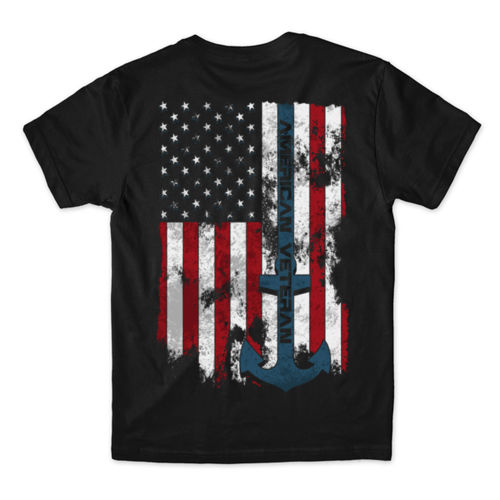 VETERAN SEMPER FORTIS - MEN'S PREMIUM S/S TEE MADE IN USA - BLACK Thumbnail