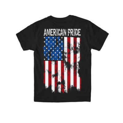 AMERICAN PRIDE - PREMIUM YOUTH S/S MADE IN THE USA TEE - BLACK Thumbnail