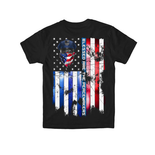 BLESSED ARE THE PEACEMAKERS - YOUTH PREMIUM S/S TEE MADE IN USA - BLACK Thumbnail