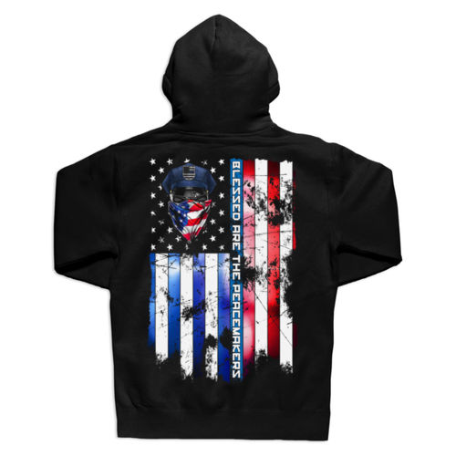 BLESSED ARE THE PEACEMAKERS - UNISEX PREMIUM PULLOVER HOODIE MADE IN USA - BLACK Thumbnail