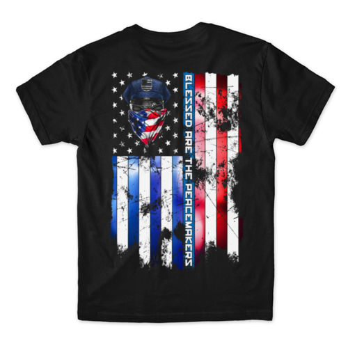 BLESSED ARE THE PEACEMAKERS - MEN'S PREMIUM S/S TEE MADE IN USA - BLACK Thumbnail