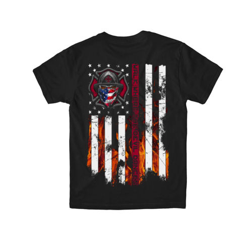 FIRE IN YOUR EYES - PREMIUM YOUTH S/S TEE MADE IN USA - BLACK Thumbnail