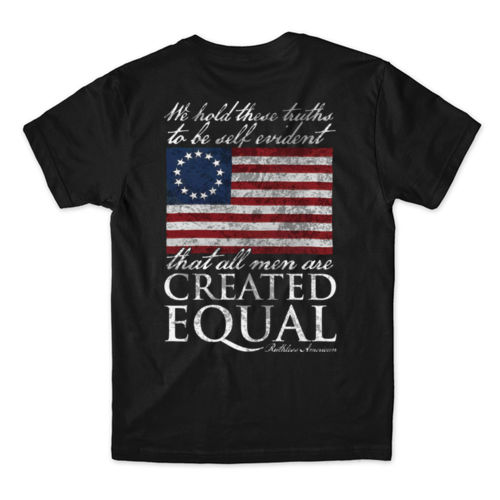 CREATED EQUAL - PREMIUM MEN'S S/S T-SHIRT MADE IN THE USA - BLACK Thumbnail