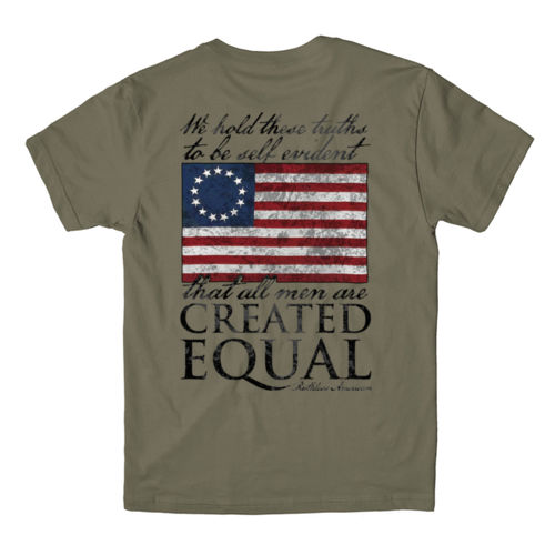 CREATED EQUAL - PREMIUM MEN'S S/S T-SHIRT MADE IN THE USA - MILITARY GREEN Thumbnail