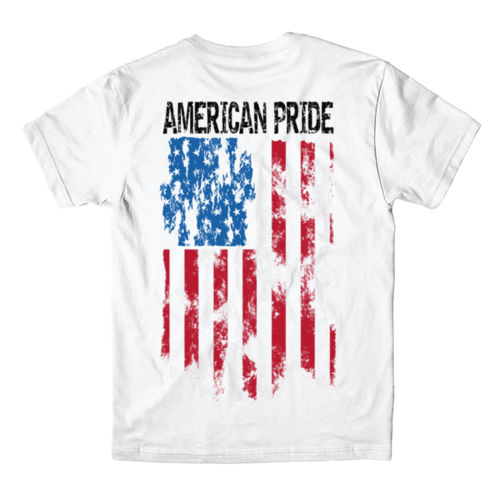 AMERICAN PRIDE - MEN'S PREMIUM S/S TEE MADE IN USA - WHITE Thumbnail