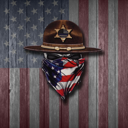 MEDIUM RUTHLESS AMERICAN SHERIFF LOGO DECAL - 6 INCHES TALL Thumbnail